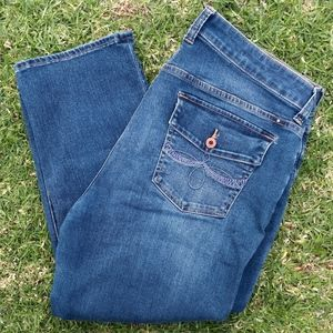 Lucky Brand Ginger Crop Stretch Jeans Size 18W